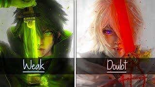 Switching Vocals - Weak VS Doubt [Nightcore]