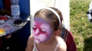Аквагрим для детей, раскрашиваем лицо!