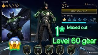 injustice 2 mobile live 1* Maxed Out level 60 batman