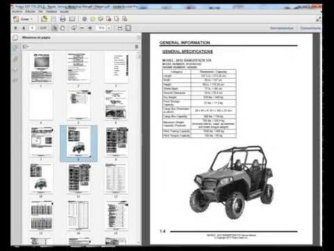 Polaris RZR 570  2012   Service Manual     Wiring       Diagram     Owners Manual  YouTube