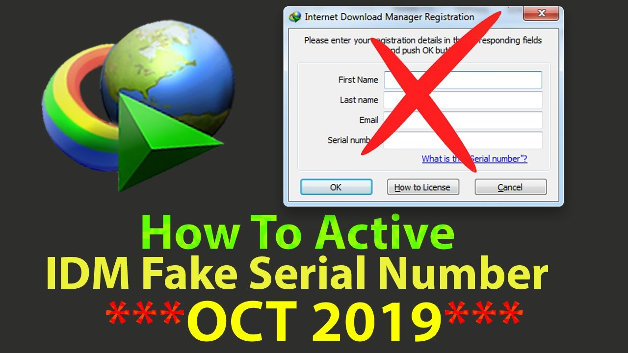 How To Activate Idm For Lifetime Free Sep 2019 Fake Serial Number Problem Idm Youtube