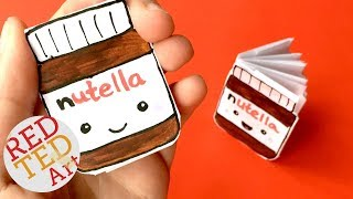 DIY Kawaii notebook of 1 sheet of paper - NO GLUE - Nutella Notebook DIY - Ideas for School