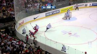 Хоккей ЧМ 2009 1/2 [ Russia - USA ] [ 2прд. ] 720p