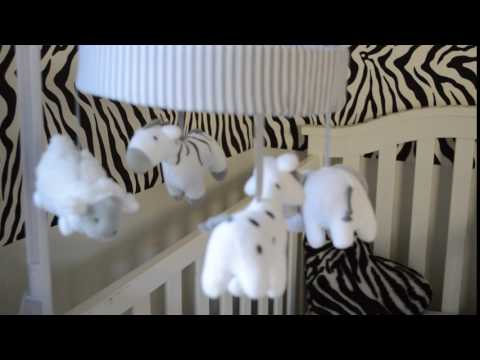 Circo™ Musical Crib Mobile Elephant Giraffe Zebra and Lamb