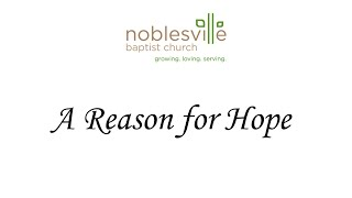 "A Reason for Hope (Part 1) ""A Book of Hope"""