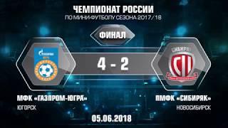 Финал. Газпром-ЮГРА - Сибиряк. 4-2. Второй матч