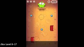 Cut The Rope Toy Box 8-17 5490 points improved result Walkthrough video gameplay