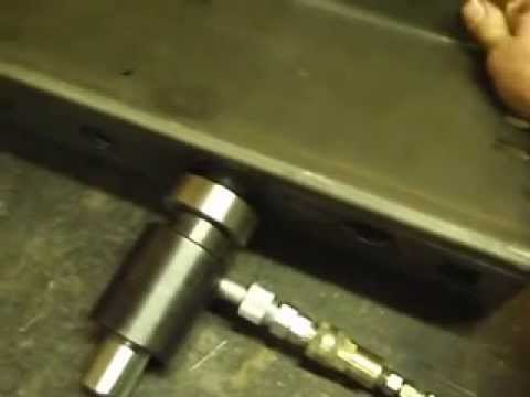 SWAG Off Road Dimple Die Process, using Harbor Freight knock out punch set
