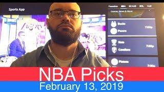 NBA Picks (2-13-19) | Basketball Sports Betting Expert Predictions Video | Vegas | February 13, 2019