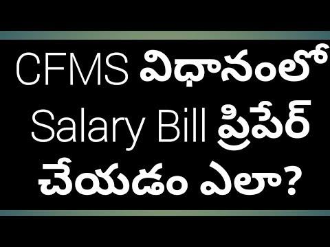 CFMS Salary Bill Preparation Video - How to Prepare Salary Bills in CFMS