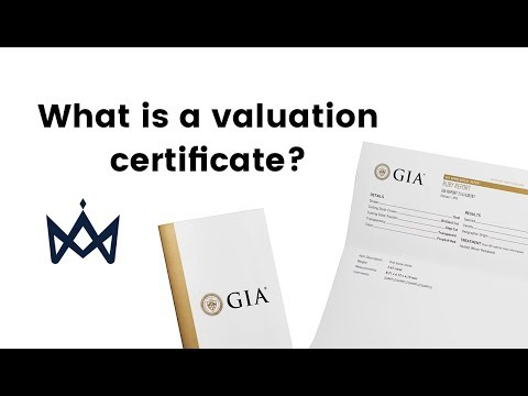 What is a jewellery valuation certificate?