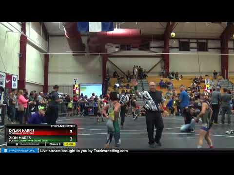 Middle School 71 Zion Mares Pueblo County Wrestling Club Vs Dylan Harms Northeast Twisters