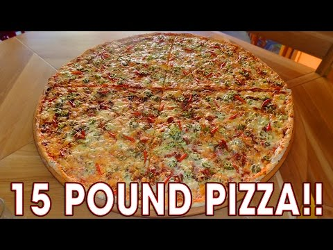 15lb Extreme Hot Pizza Challenge in Czech Republic!!