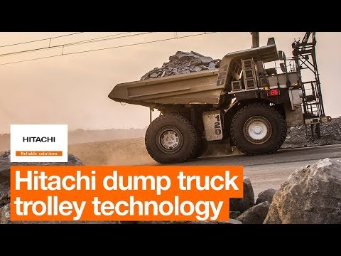 Hitachi Dump Truck Trolley Technology Boosts Productivity