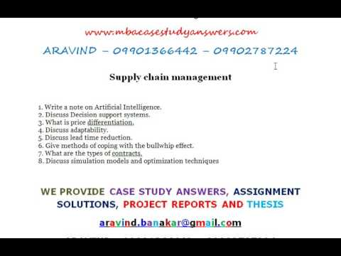 supply chain management case studies with answers