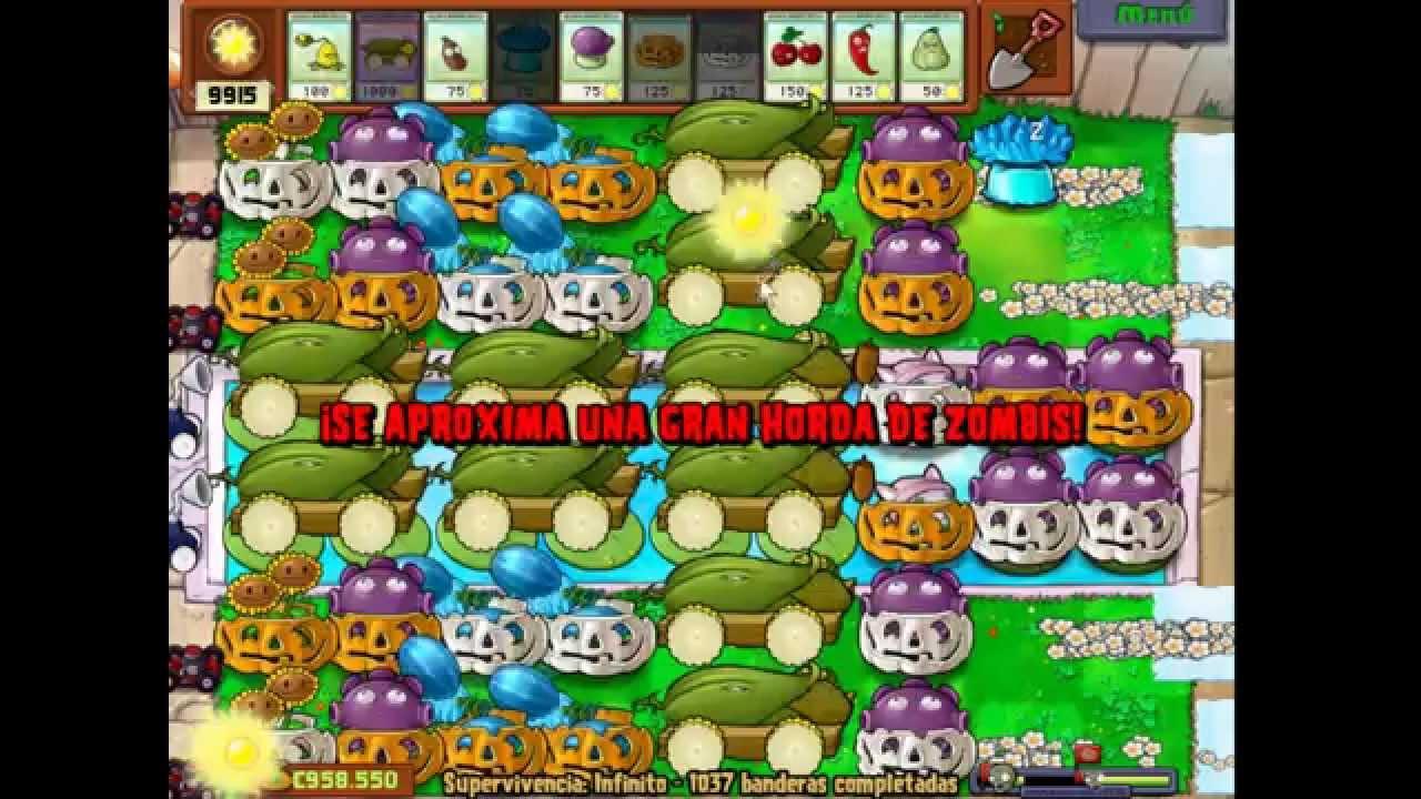 Plantas vs zombies jardin zen completo supervivencia 1036 for Jardin zen plantas vs zombies
