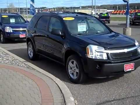 Used Chevy Equinox >> 2005 Chevrolet Equinox LT AWD Black Hometown Motors of Wausau Used Cars - YouTube