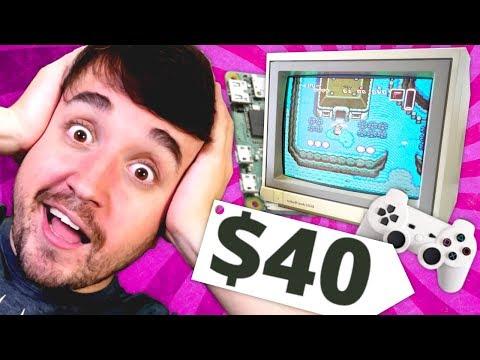 FAÇA UM VIDEO GAME DE $40 REAIS! - Raspberry Pi Zero W