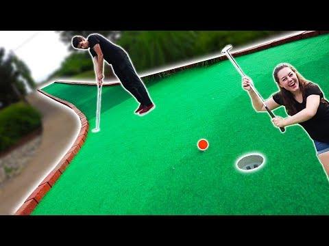 MINI GOLF FACE OFF ROUND 2! | Husband vs. Wife