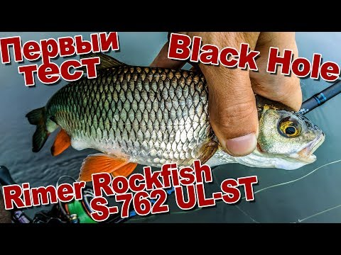 Первый тест Black Hole Rimer Rockfish S-762 UL-ST По Щуке, окуню и голавлю | Сплав по Дону