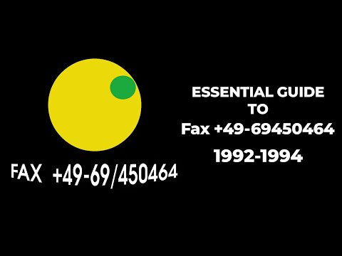 [90's Trance] Essential Guide To Fax +49-69/450464 (1992-1994)