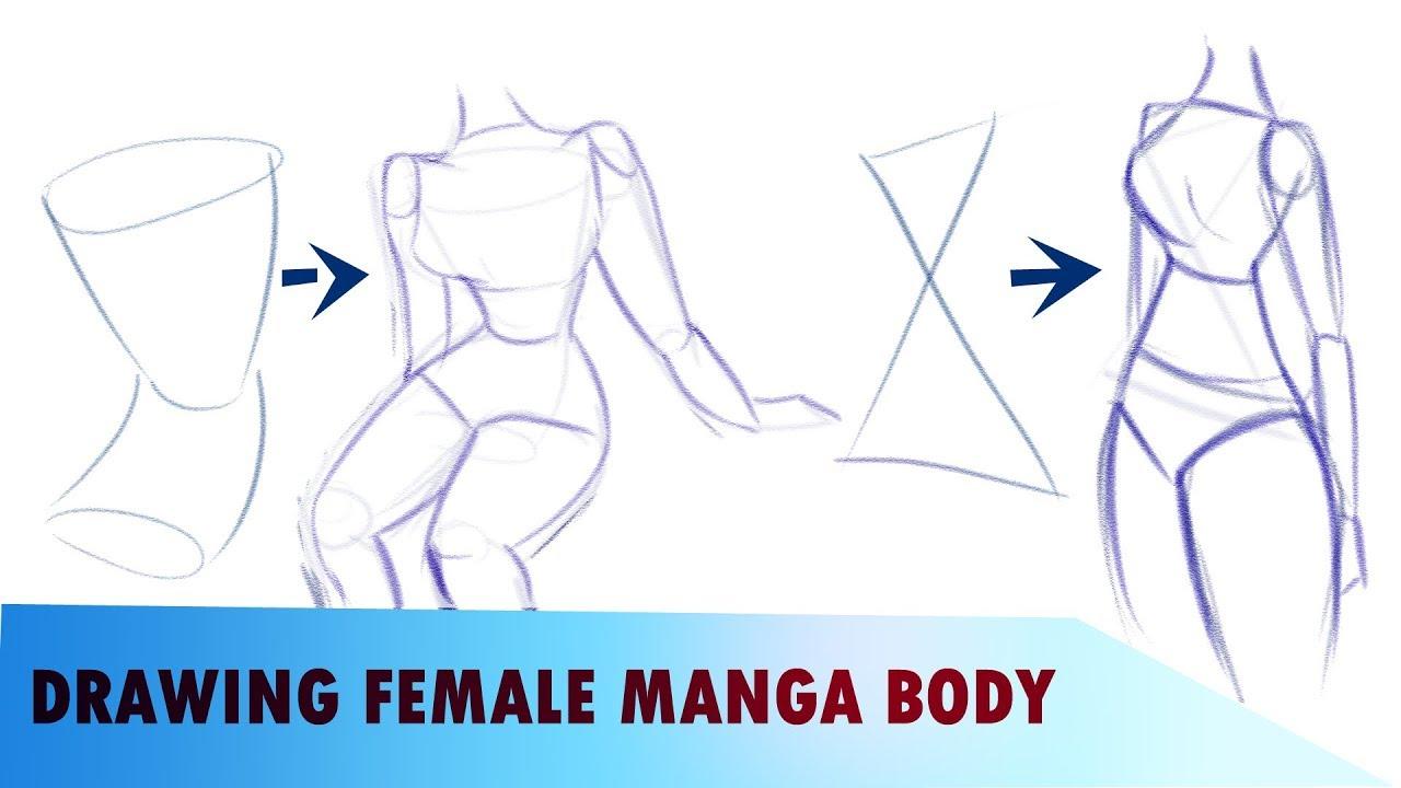 How To Draw Female Manga Body Anatomy Youtube