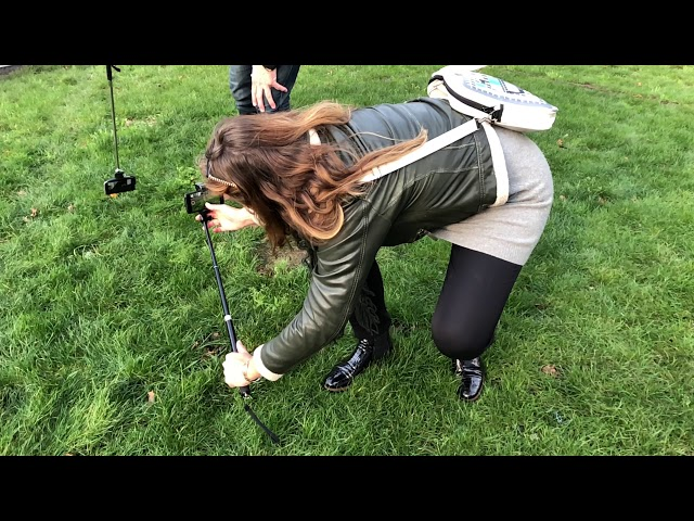 Making off - kikker shots oefenen in het gras - smartphone video training Rotterdam