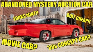 I Bought A Custom Built MYSTERY Auction Car For $1,100! Looks Like A Movie/Concept Car From The 80s!