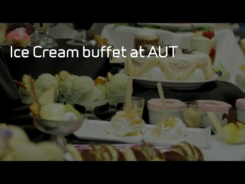 Ice Cream buffet at AUT