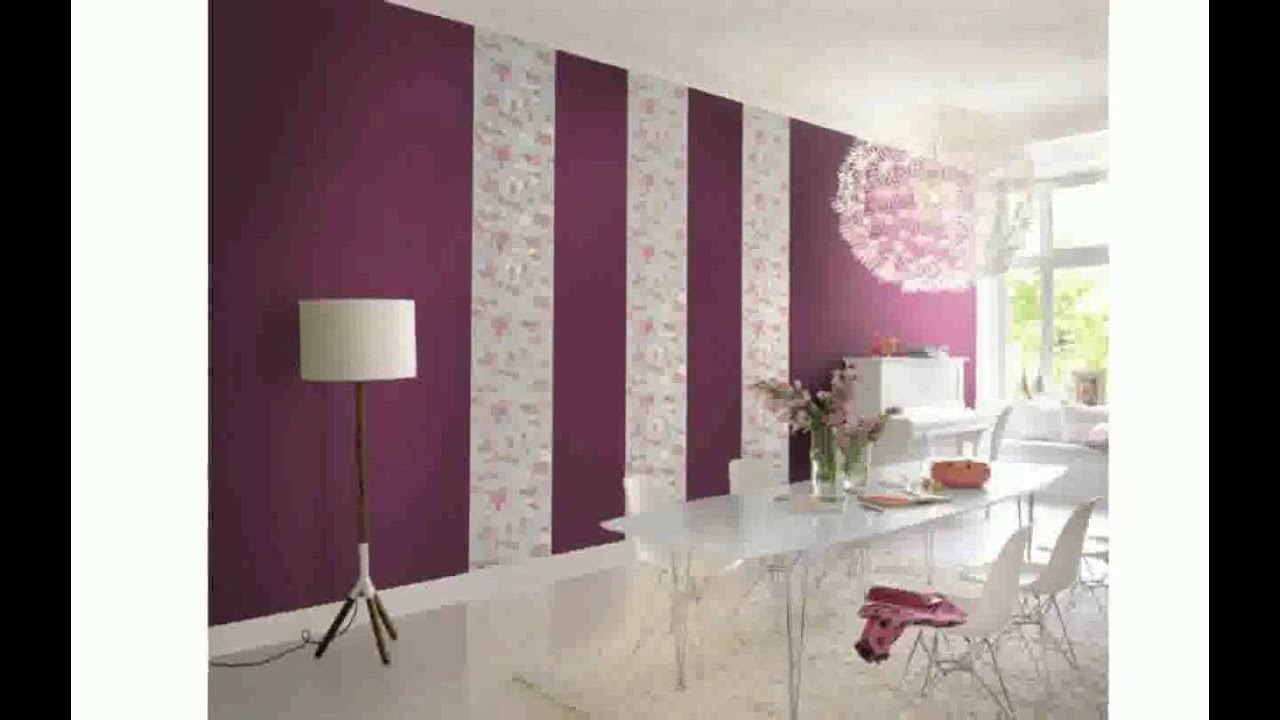 Wohnzimmerwand streichen ideen  tolle wandgestaltung mit farbe 100 wand streichen ideen in bezug ...