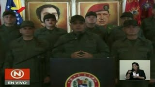 "Alto mando militar da ""irrestricto apoyo"" a mandato de Maduro"