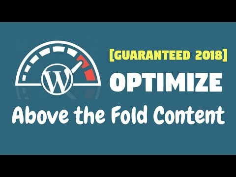 Above the fold content [2018] - Complete Optimization Guide