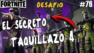 FORTNITE'S SECRET CHALLENGE ? TAQUILLAZO 4 GUIA ? Gameplay English