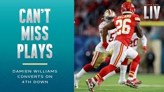 Mahomes Flips It to Damien Williams for 4th Down Conversion! | Super Bowl LIV