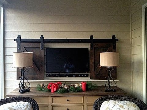 Barn Door Tv Cover Ideas Youtube