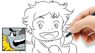 How to draw Ponyo