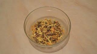 Готовим печеночный салат.Вкусно.Салат из печени.Горячий салат из печени.