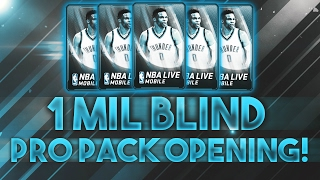 NBA Live Mobile - 1 MILLION COIN BLIND PRO PACKS!!! INSANE 90+ THROWBACK PULL! IS IT WORTH IT???