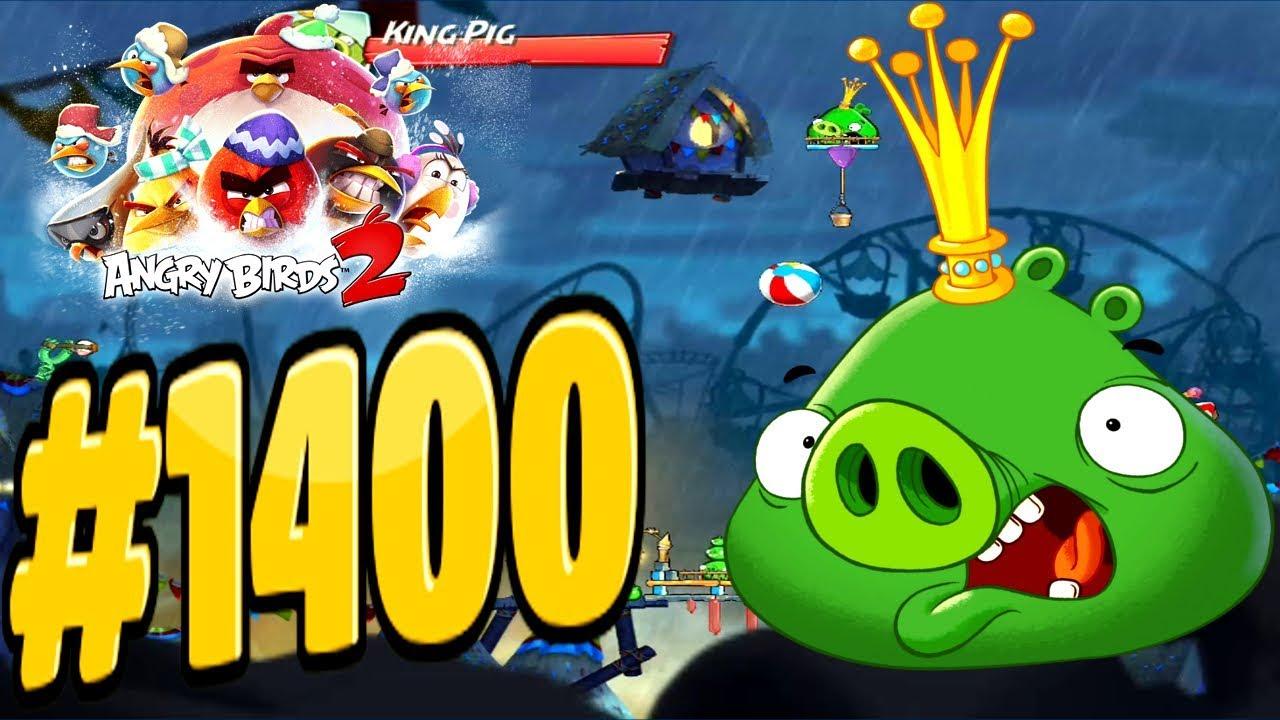 Angry birds 2 pig city porka rica king pig level 1400 - Angry birds trio ...