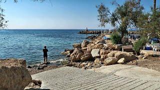 Пляж Коралия Бич Кипр Corallia Beach Laourou Beach Cyprus