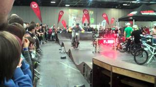 Brendan Fairclough at the London Bike Show