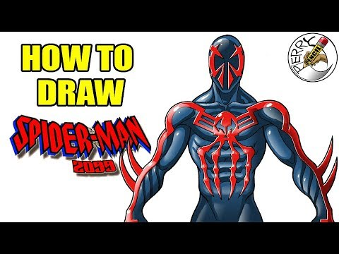 how to draw spiderman 2099 step by step easy narrated drawing