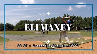 Eli Maxey SS OF ~ Baseball Recruiting Video ~ Class of 2019