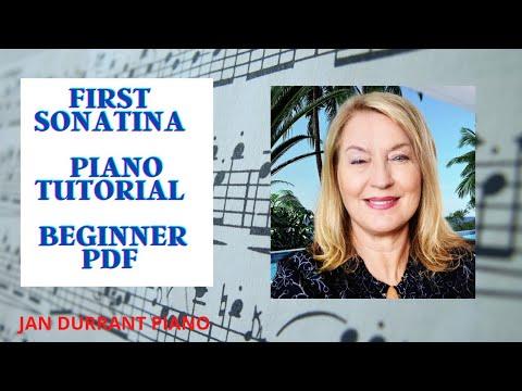 First Sonatina Free Sheet Music