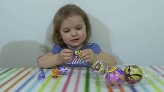 МЛП Свинка Пеппа Маша и Медведь Чупа Чупс шары с сюрприз открываем игрушки surprise balls toys