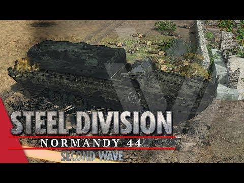 Slaughter On The Horizon! Steel Division: Normandy 44 Gameplay (Cheux, 4v4)