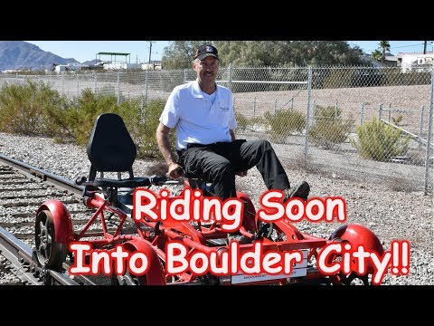 Riding Soon Into Boulder City on the Rails!