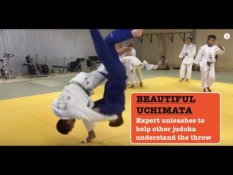 Beautiful UCHIMATA 内股 by Genta Mikami (Inner thigh judo throw)