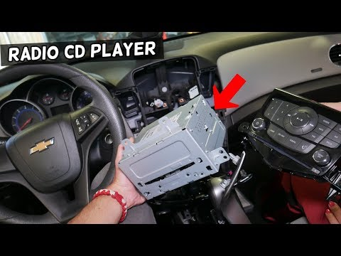 CHEVROLET CRUZE RADIO CD PLAYER REMOVAL REPLACEMENT. CHEVY CRUZE RADIO TRIM BEZEL