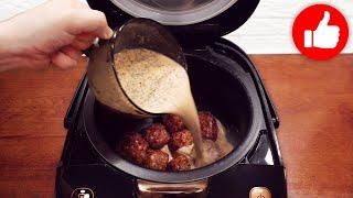 Так готовить точно не устанете Быстрый вкусный и полезный рецепт Тефтелей в мультиварке на ужин
